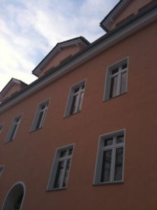 Fassade von unten