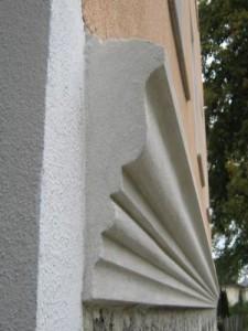 stuck an Fassade