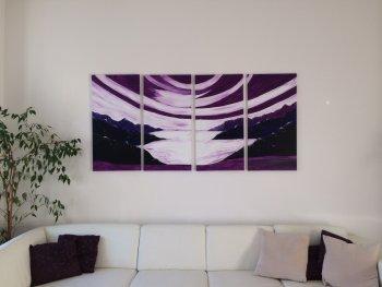 Bild an die Wand kleben