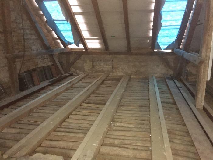 Verstärkung Unterbau für Dachterrasse