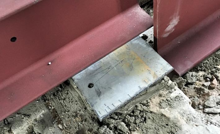 Trägerauflager für Stahlplatten herstellen
