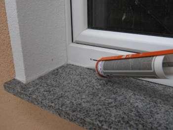 Sehr Granit- Fensterbänke mit Natursteinsilikon abdichten KY87